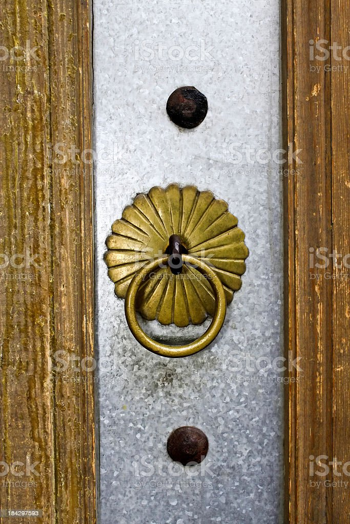 Traditional door knob royalty-free stock photo