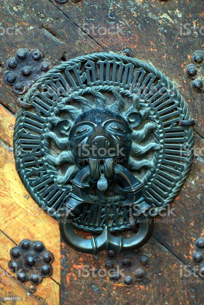Traditional door knock, Merchant's House, Pikk, Tallinn, Estonia royalty-free stock photo