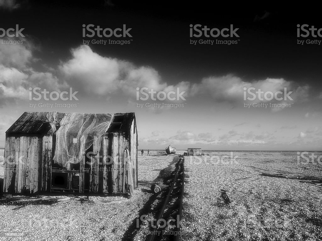 traditional dungeoness fishing hut royalty-free stock photo