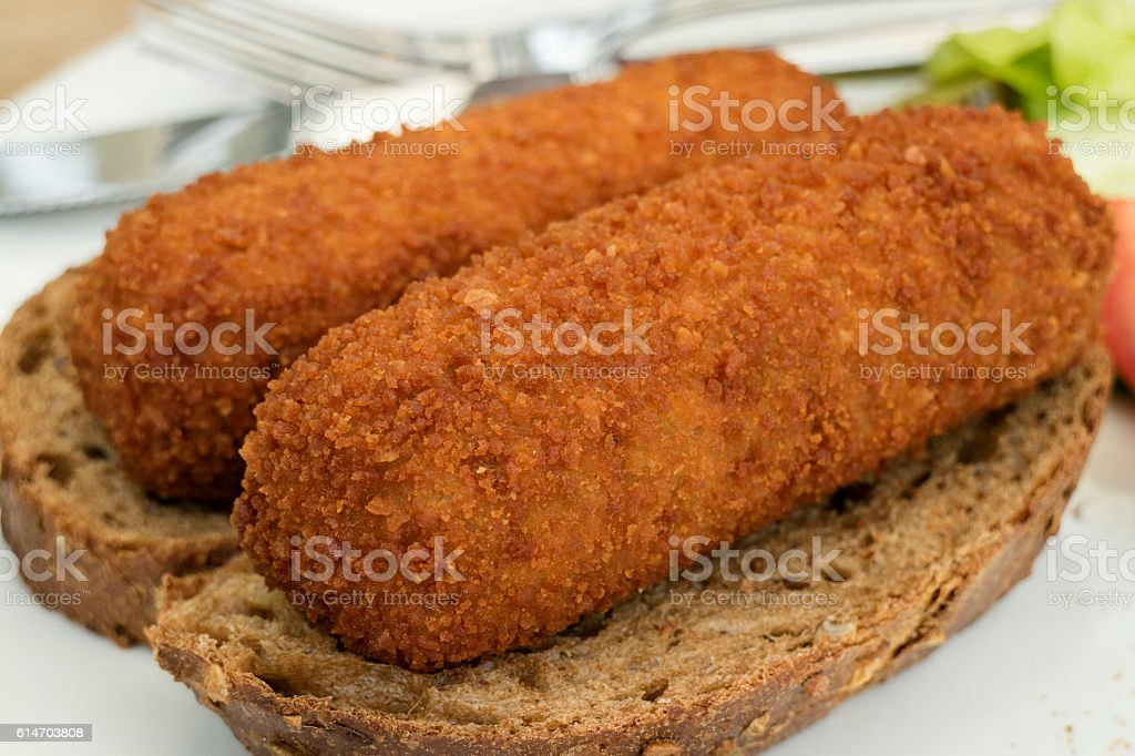 Traditional dutch lunch with croquettes​​​ foto
