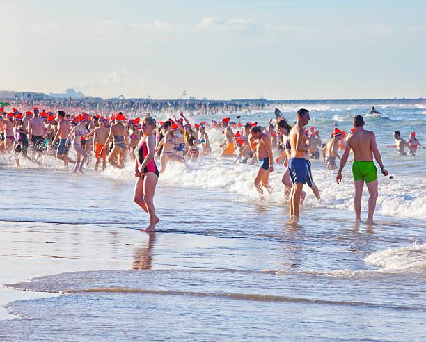 traditionelle niederländische schwimmen am ersten januari, niederlande - feiertage holland 2016 stock-fotos und bilder
