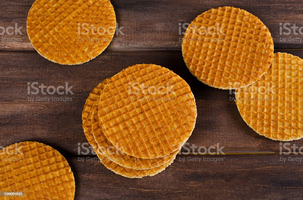 Traditional Dutch waffles royalty-free stock photo