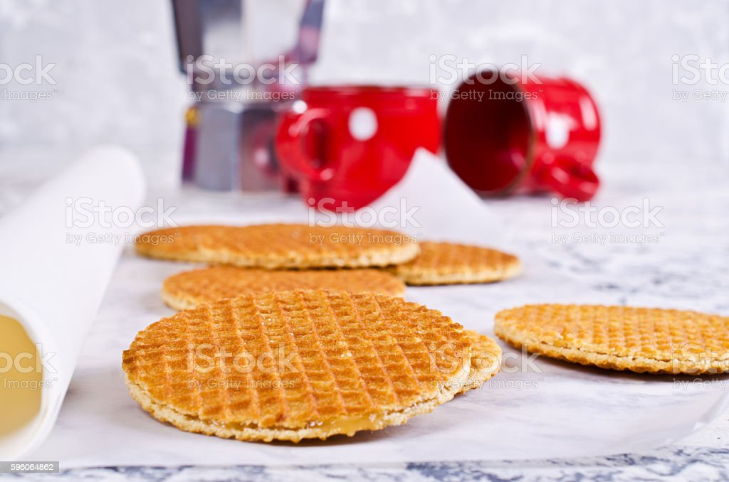 Traditional Dutch waffles royalty-free stock photo