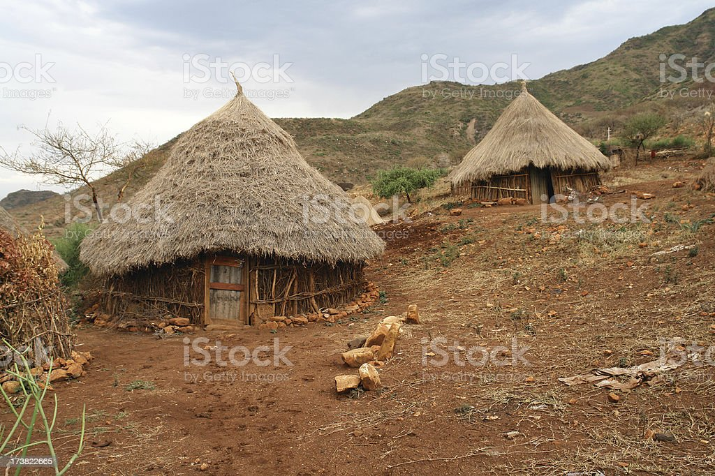 Traditional Dwellings in Ethiopia royalty-free stock photo