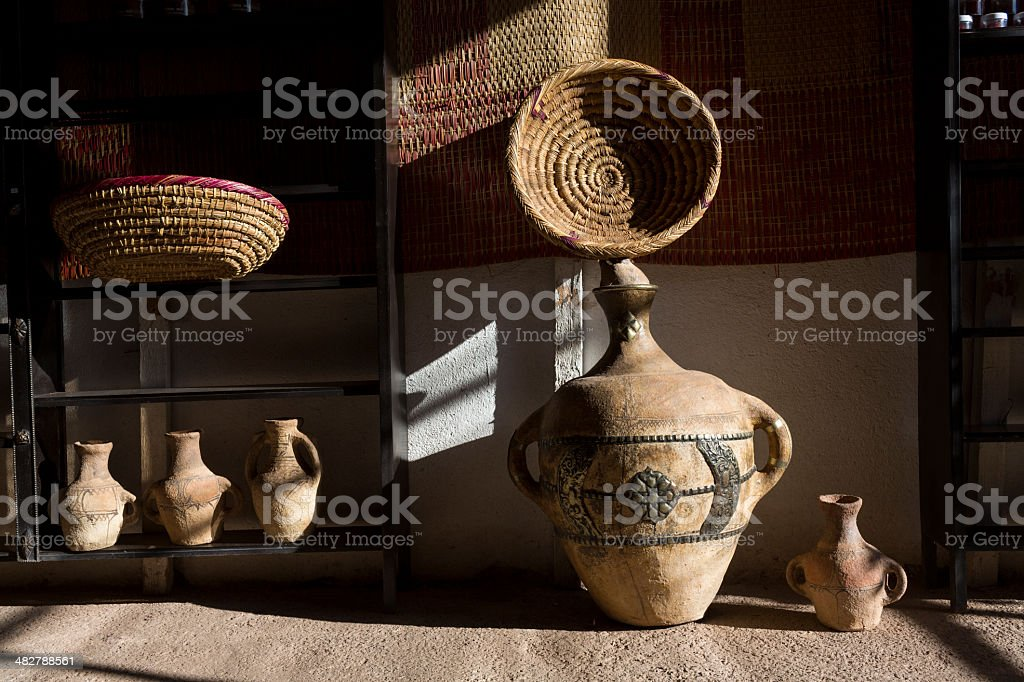 Traditional earthenware in Morocco, Africa stock photo