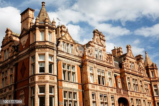 Traditional edwardian townhouses in Mayfair London