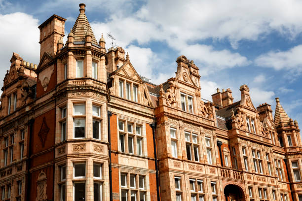 Traditional edwardian townhouses in Mayfair London Traditional edwardian townhouses in Mayfair London mayfair stock pictures, royalty-free photos & images