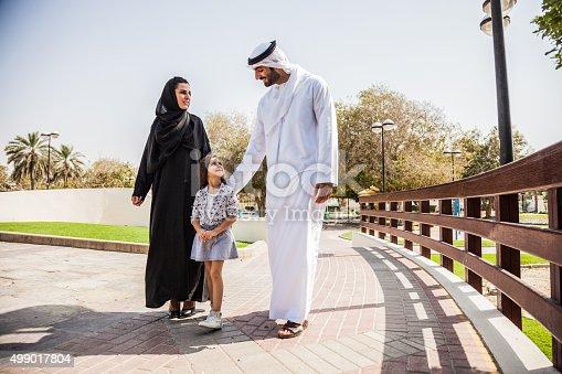 472869308 istock photo Traditional Emirati young family enjoying weekend 499017804
