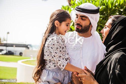 472869308 istock photo Traditional Emirati young family enjoying weekend 499017998