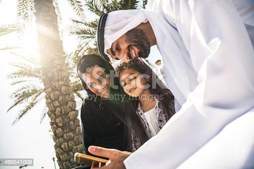 472869308 istock photo Traditional Emirati young family enjoying weekend 499541008