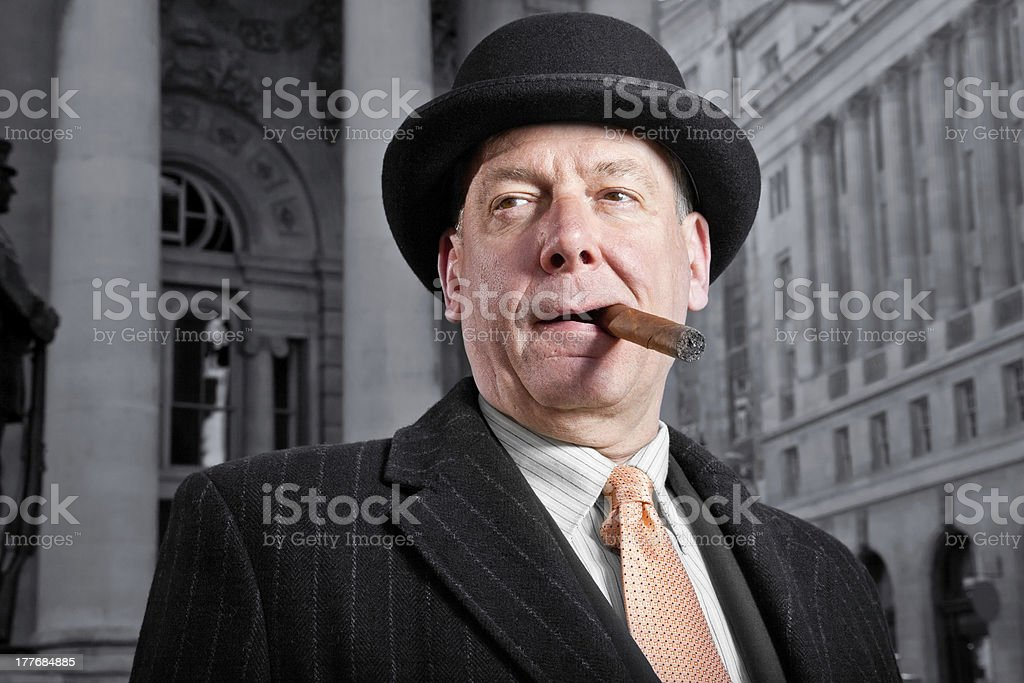 Traditional english City banker royalty-free stock photo