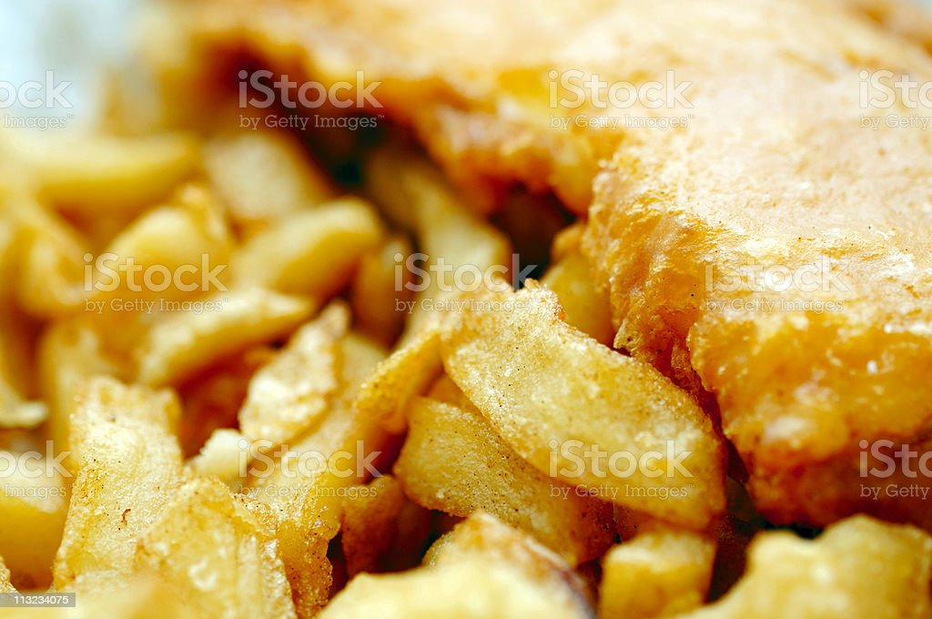 traditional english fish and chips close up stock photo