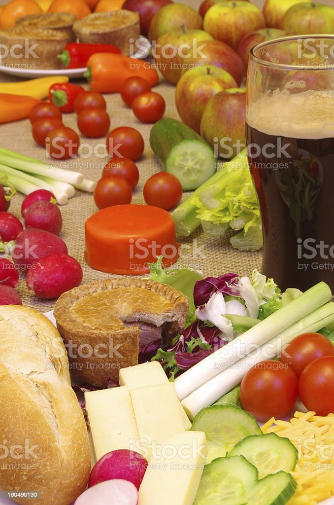 Traditional English Ploughmans Lunch royalty-free stock photo