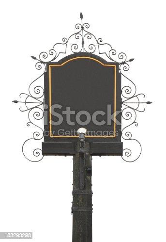 istock traditional English Pub Sign 183293298