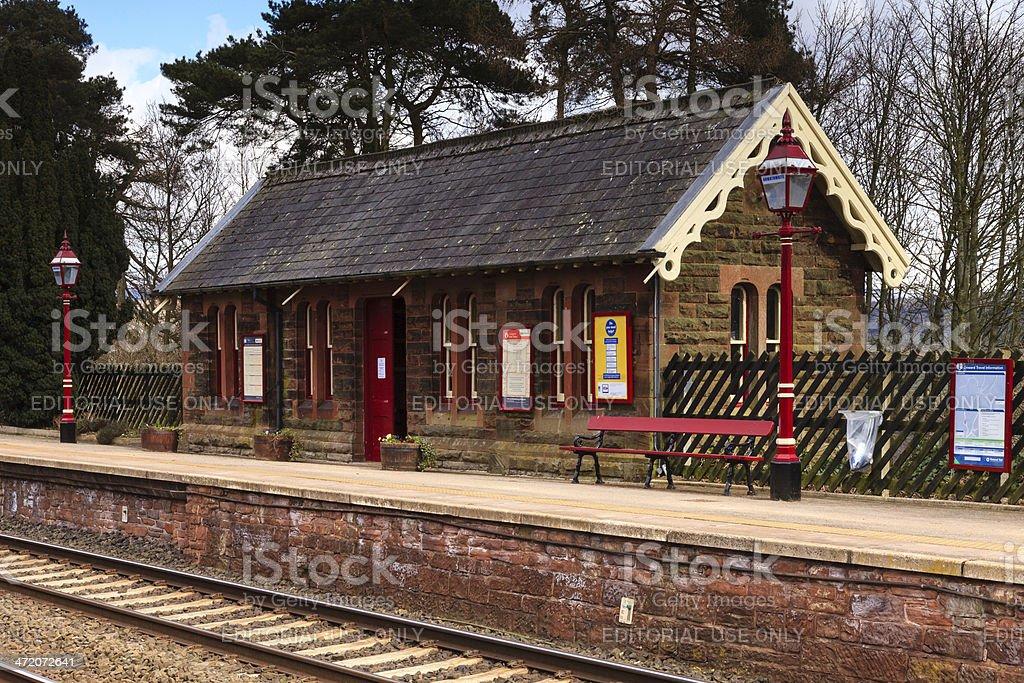 Traditional English Railway Station stock photo