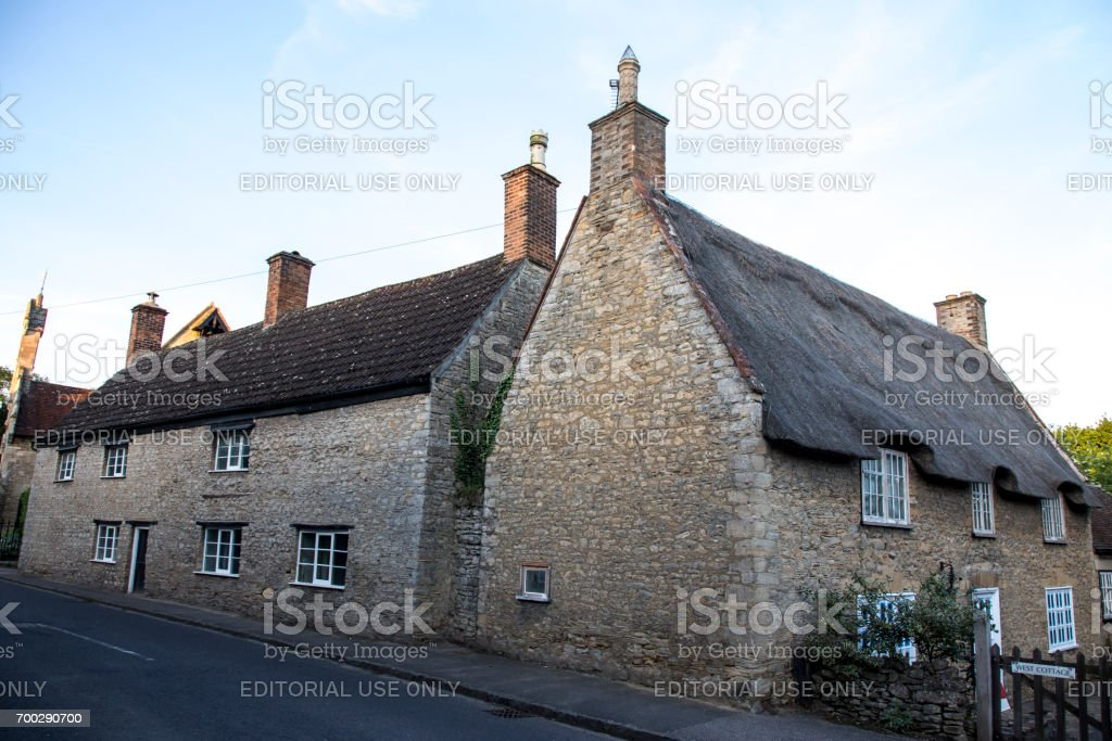Traditional English village, Bedfordshire stock photo