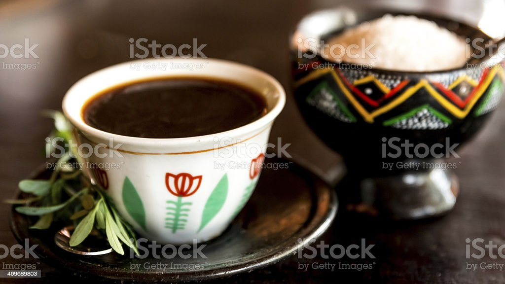 Traditional Ethiopian Coffee stock photo