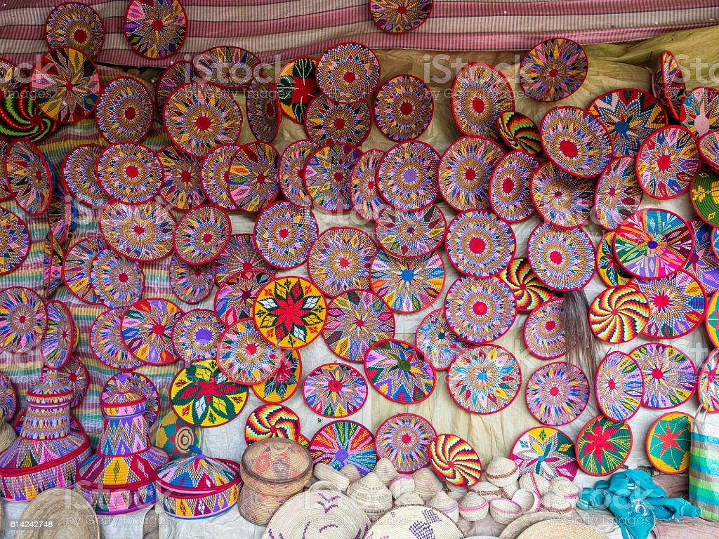 Traditional Ethiopian Habesha Baskets Stockfoto Und Mehr Bilder Von