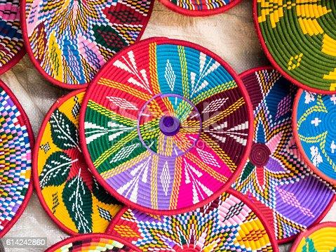 Ethiopian Habesha baskets sold in Axum, Ethiopia.