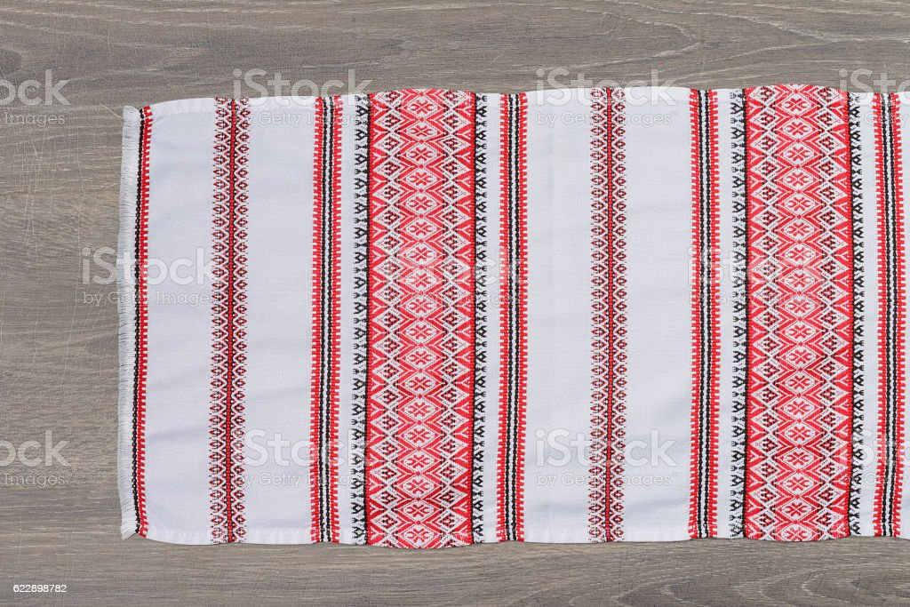 Traditional ethnic towel stock photo