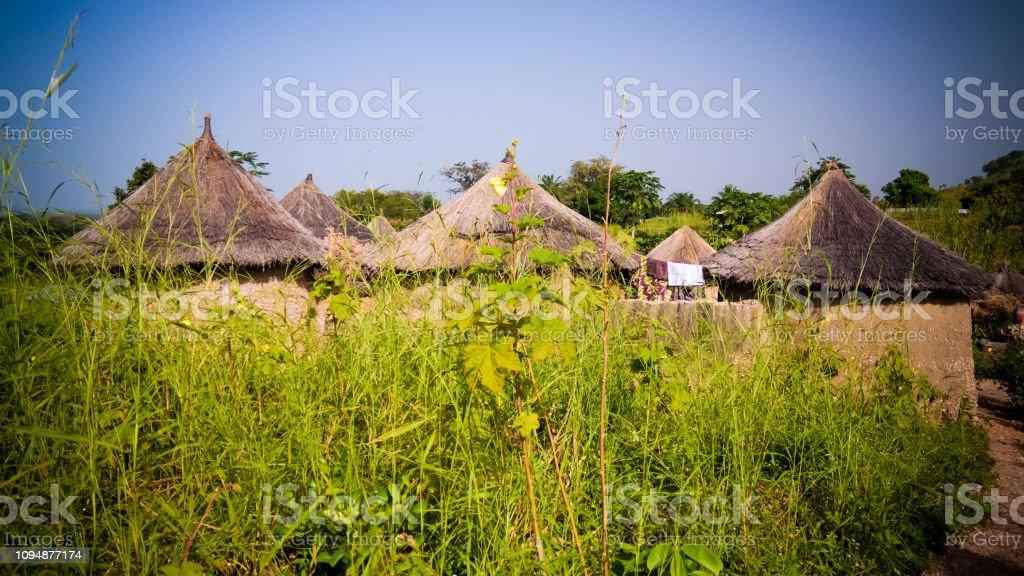 Traditional Ewe People Village Tatale Region Togo Stock