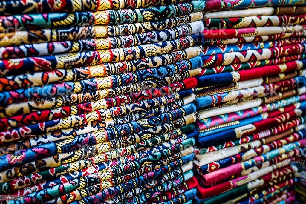 traditional fabric in turkey stock photo