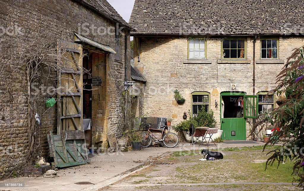 Traditional farm buildings, England stock photo