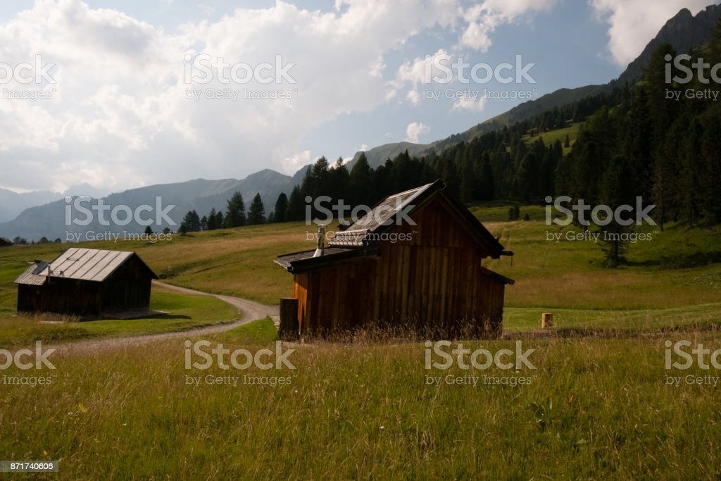 Traditional farms stock photo