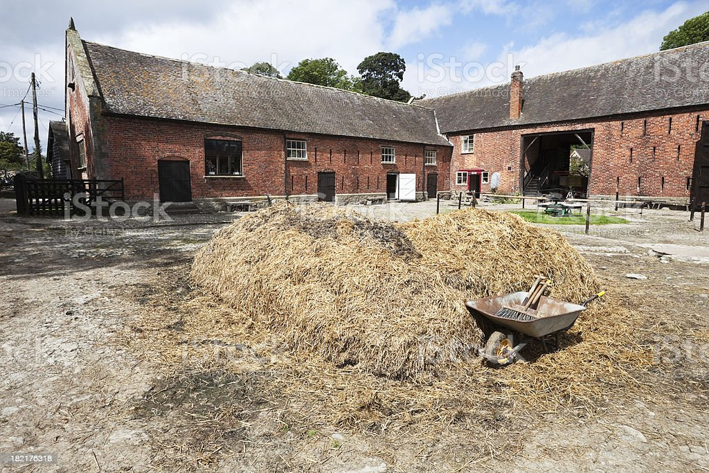 Traditional Farmyard in Shropshire stock photo
