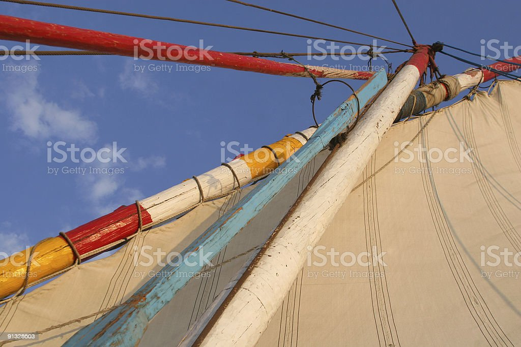 Traditional felucca sail boat on the Nile, Cairo, Egypt royalty-free stock photo