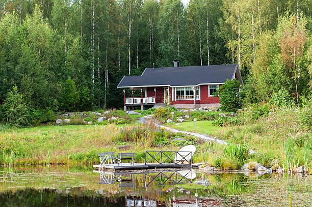 Traditionelle finnische cottage – Foto