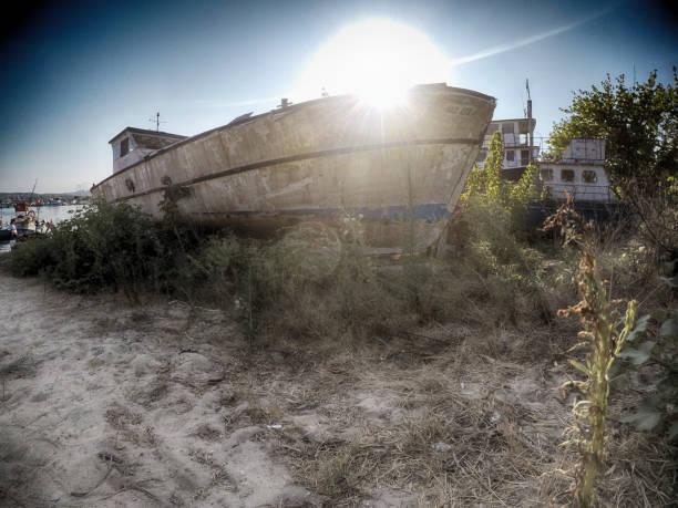 Traditionelles Fischerboot im Hafen befindet sich in der Türkei – Foto