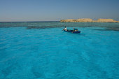 Traditional fishing boat next to Giftun, Hurghada, Red Sea, Egypt.