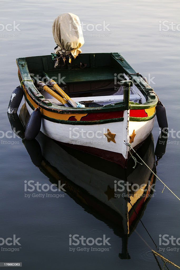 traditional fishing boat royalty-free stock photo