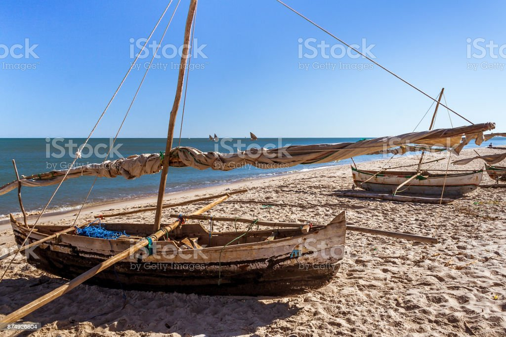 Traditional fishing boats stock photo