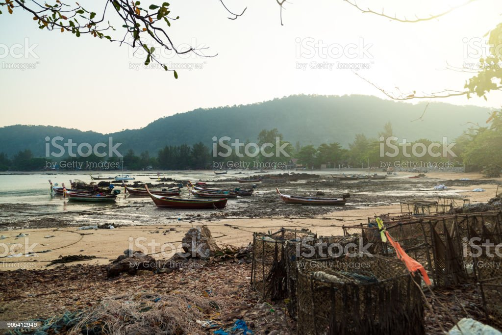 Traditional fishing boats royalty-free stock photo