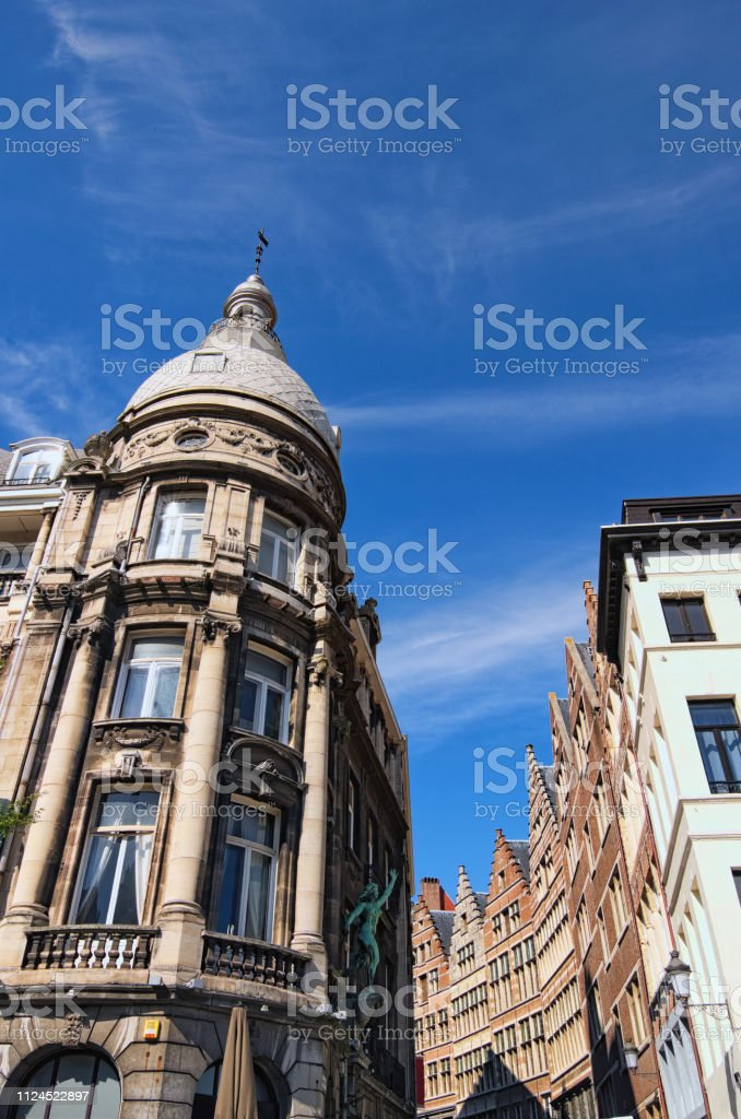 Traditional Flemish Architecture In City Center Of Antwerp At Sunny Day Stock Photo Download Image Now Istock