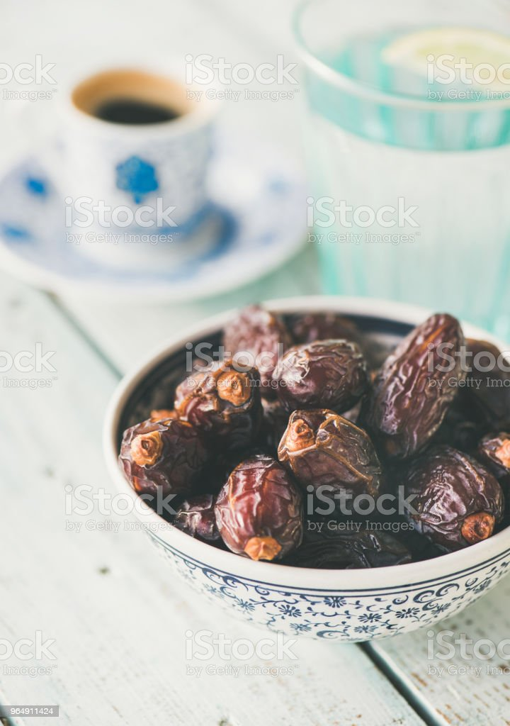 Traditional food for Ramadan iftar royalty-free stock photo