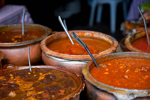Traditional food in Guatemala stock photo