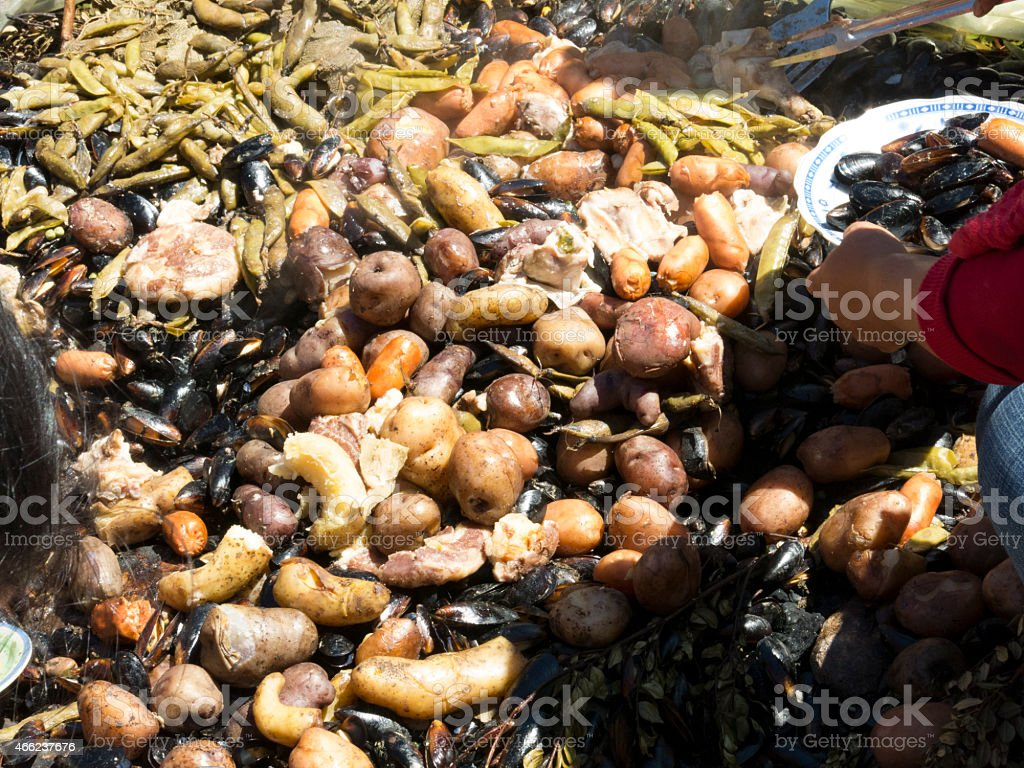 Traditional food in Patagonia stock photo