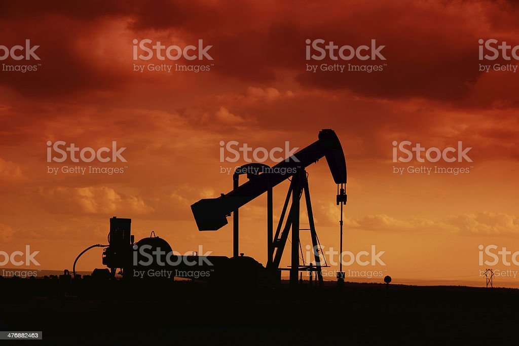 traditional fossil oil rig royalty-free stock photo