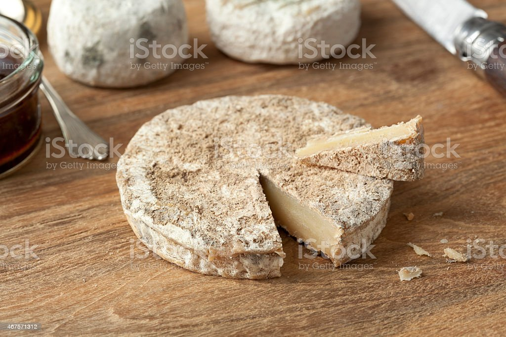 Traditional french goats cheese stock photo