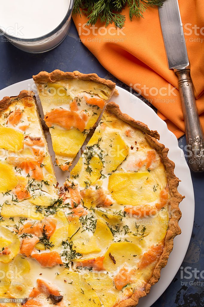 Traditional french quiche stock photo