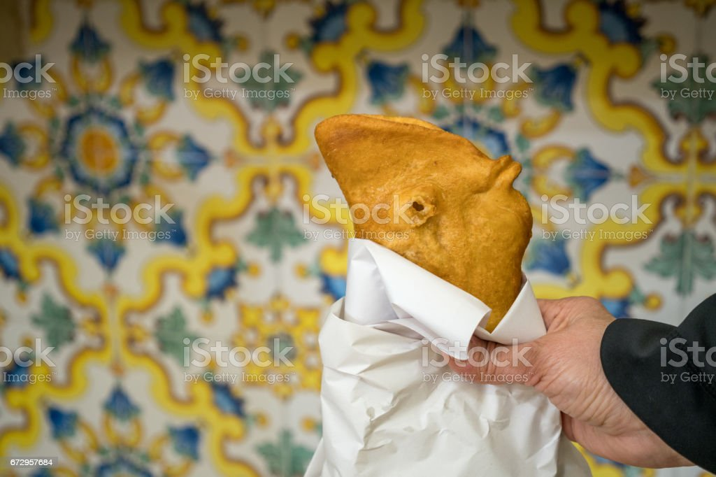 Traditional Fritta food from Brindisi, Italy stock photo