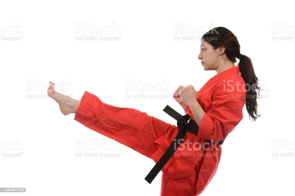 Traditional Front Kick stock photo