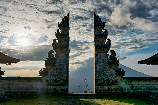 Traditional Gateway Into A Balinese Temple Pura Luhur Lempuyang Stock Photo - Download Image Now