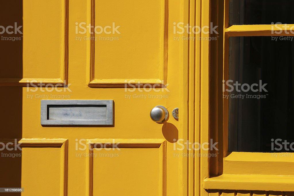 Traditional Georgian architecture yellow doorway royalty-free stock photo