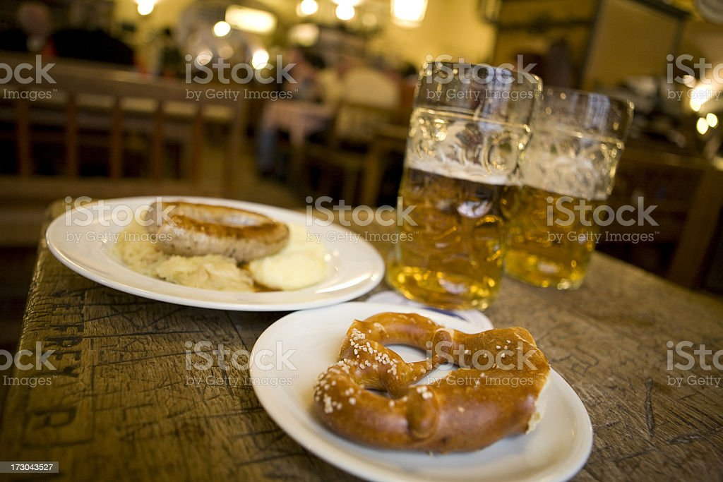 Traditional German food royalty-free stock photo