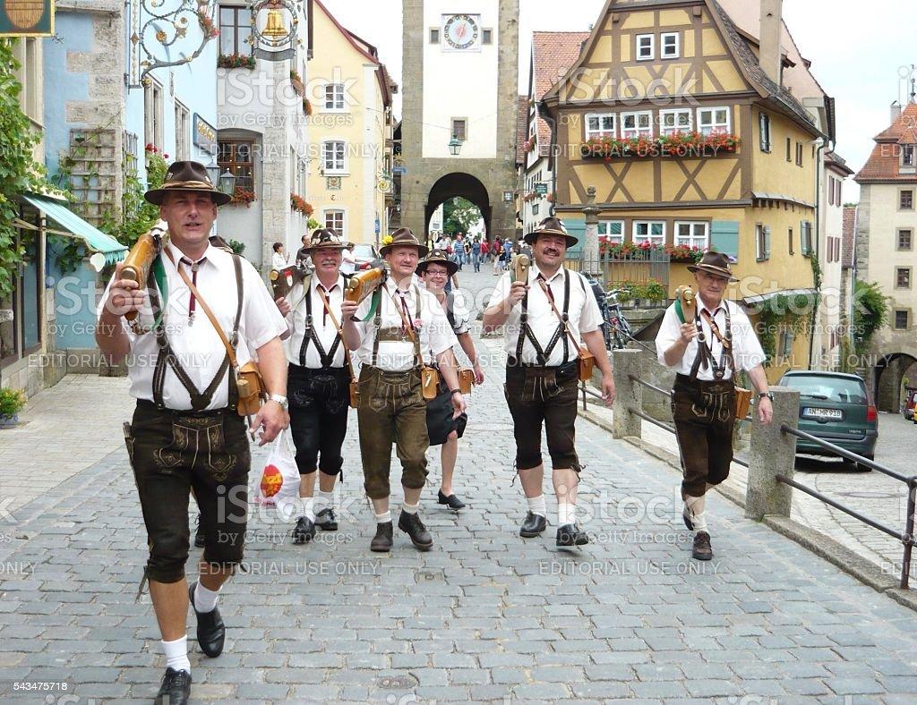 Traditional German Parade stock photo