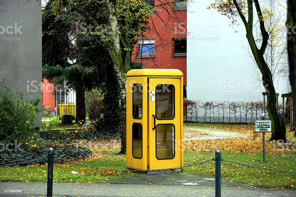 traditional German phone box stock photo
